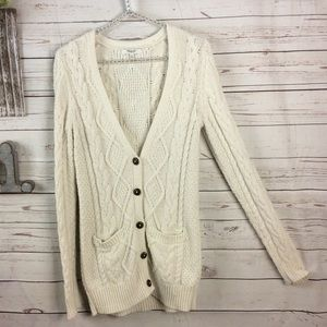 Madewell button-down cardigan with pockets S